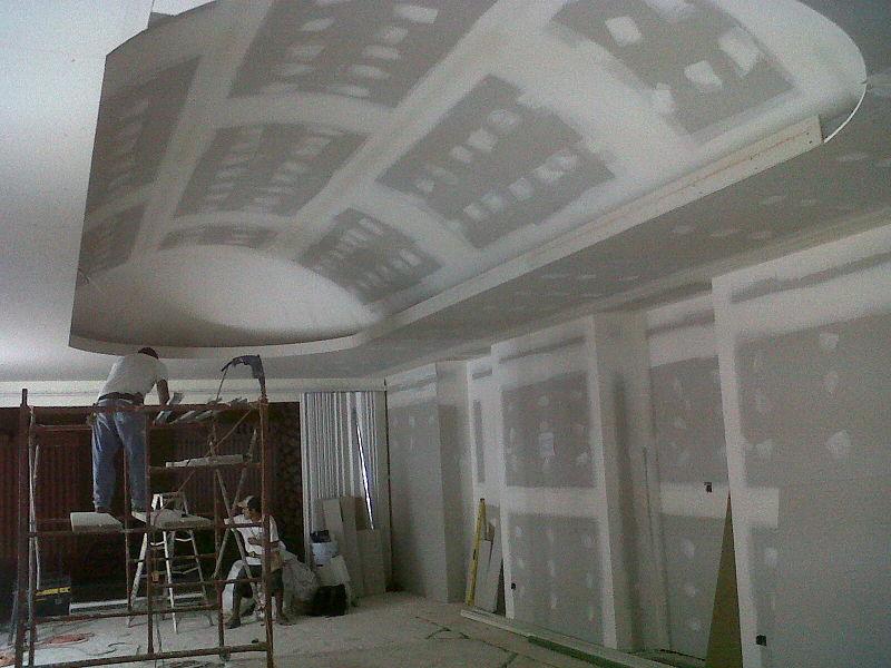 Muros y plafon de tablaroca estudio arquitect nico for Techos de tablaroca