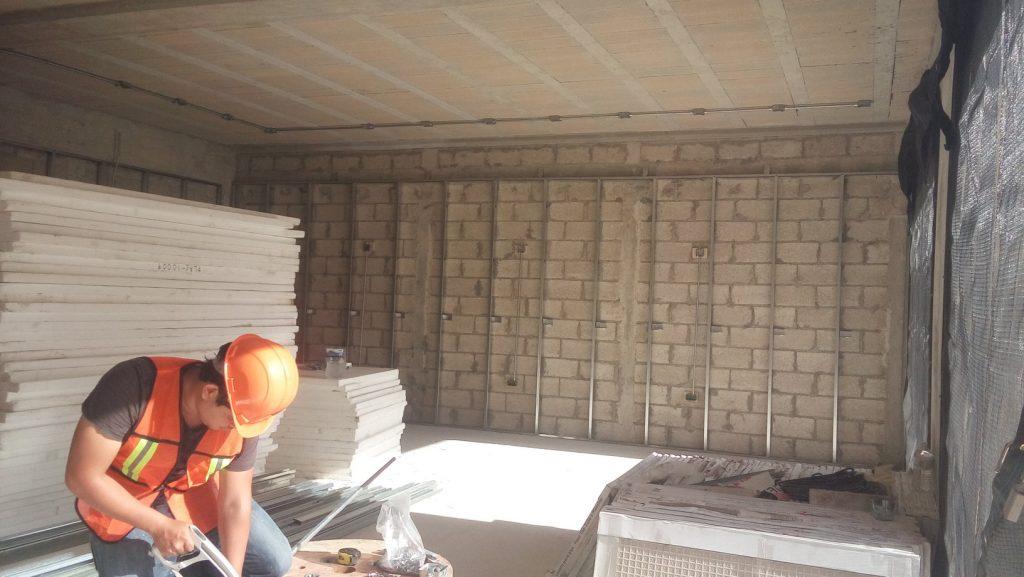 Joyería Muelle Internacional Estructura de Muros de Tablaroca