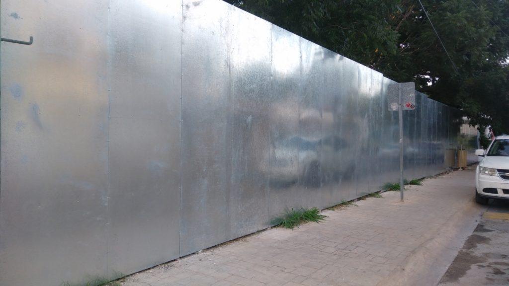 Metallic Galvanized Fence