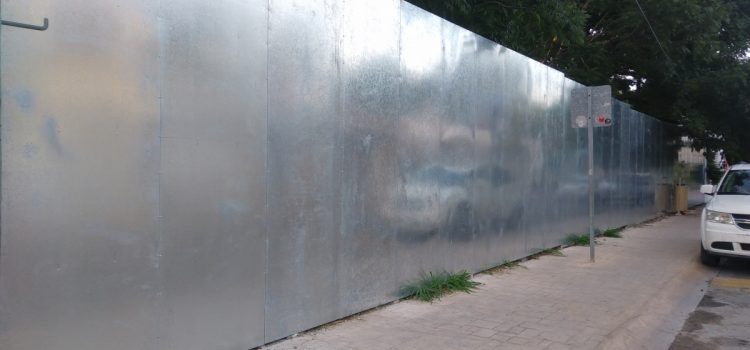 Metallic Galvanized Fence